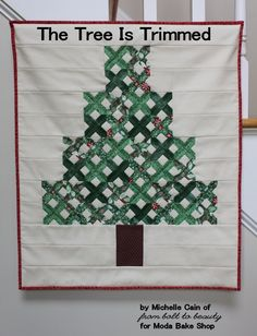 The Tree is Trimmed Mini Quilt
