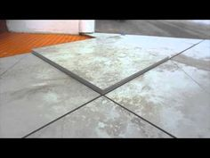 Easy way to Measure and mark ceramic tile for diagonal and diamond pattern cuts - YouTube