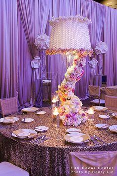 Winding floral centerpiece