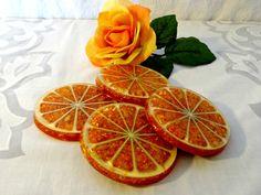Vintage Lucite Orange Coasters Orange by TimelessTreasuresbyM, $14.00
