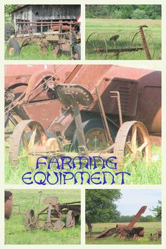 Old farm equipment that was once used daily, with horses, on farms in Virginia