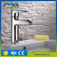 Brass single lever chrome polished basin faucet tap for hot cold water