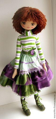 Купить Смородинка - кукла текстильная, тряпиенсы, кукла интерьерная, кукла в подарок, подарок девушке