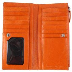 Orange Dakota Purse   Status Anxiety Wallet   Orange Purse