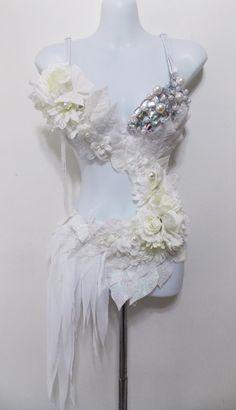 Winter Fairy Monokini Rave Bra Irredescent by SugarRoxCouture, $185.00