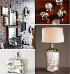 17 Apart: How To: DIY Antiqued Mercury Mirror Glass    Ideas to re-vamp ceramic chandelier
