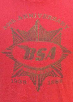 Vintage 1988 50th Anniversary BSA Gold Star t shirt L