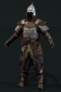 Mongol scale level up asset, Dmitriy Romodanovsky Samurai Armor, Arm Armor, Body Armor, Medieval Art, Medieval Fantasy, Character Concept, Character Design, Lamellar Armor, Chinese Armor
