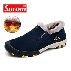 SUROM Winter Mens Shoes Casual Leather Sneakers Plush Zapatos De Hombre  Non-slip Flats Zapatillas Hombre Casual Scarpe Uomo. Yesterday s price  US   43.24 ... 620ceb06947