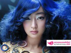 mavi saç rengi modeli