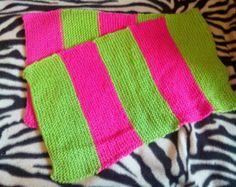 Warming Rave Pink & Green Scarf