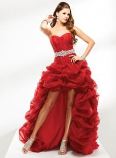 3a393c550277 best 2013 hot red strapless princess prom dresses short in front long prom  dresses 2013