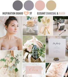Elegant Charcoal and Blush Inspiration Board | Simply Peachy Wedding Blog