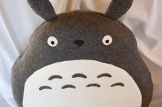 <3 Who wouldn't want to sleep on Totoro?  Totoro Pillow/Plush by SewLeslieCrafts on Etsy