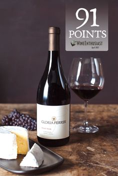 """2013 Gloria Ferrer Estate Pinot Noir- Carneros:  """"This wine is lifted by vibrant acidity and shows bread-like aromas accented with wild strawberry…flavors.""""-Virginie Boone. #GloriaFerrer #PinotNoir Sponsored by @gloriaferrer"""
