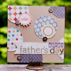 NoelMignon.com Layouts and Projects: Father's Day cards with Summer Wind kit by Kimberly Neddo.