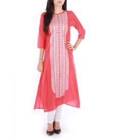 206e1f83af EGO Peach Pink Vertical Kurta Indian Salwar Kameez, Churidar, Salwar Suits,  Kurti,