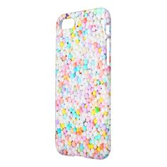 cute yummy pastel sprinkles pattern iPhone 8/7 case #pastel #iphone #protective #cases