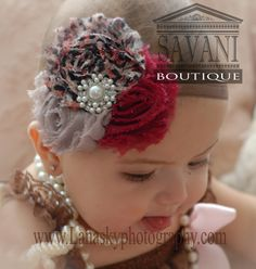 leopard Baby headband newborn headband shabby by SAVANIboutique, $9.99