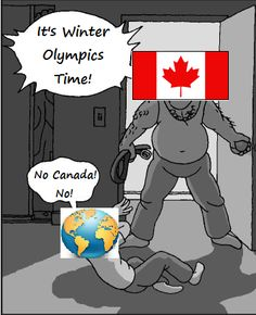 Funny pictures about Its Winter Olympics time. Oh, and cool pics about Its Winter Olympics time. Also, Its Winter Olympics time. Canada Jokes, Canada Funny, Canada Eh, Stupid Funny Memes, Funny Relatable Memes, Hilarious, Funny Stuff, Funny Canadian Memes, Funny Things