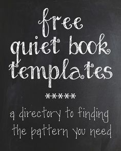 Free Quiet Book Template, Free Quiet Book Pattern, Free Quiet Book Tutorial, Free Quiet Book Templates, Free Quiet Book Patterns, Free Quiet Book Tutorials, Quiet Book Pages