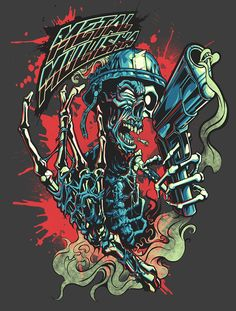 Metal Mulisha Artist Series by Zombie Yeti, via Behance