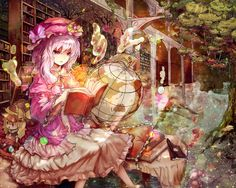 Patchouli Knowledge. A magician who has lived over a hundred years in the library of the Scarlet Devil Mansion. Physically, she is weak and suffers from asthma and frailness. Her magical ability is one to behold, however. She is wise, but cold and unforgiving. She looks down upon humans, and finds herself and other species superior in power to them.