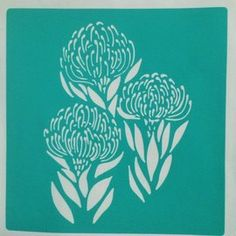 King ProteaB is a horizontally flipped version of King Protea A.The stencil is cut from 230 micron stencil vinyl, with a self adhesive backing. Protea Art, Protea Flower, Line Art Flowers, Flower Line Drawings, Flower Art, Stencil Vinyl, Stencil Painting, Ceramic Painting, Spider Web Drawing