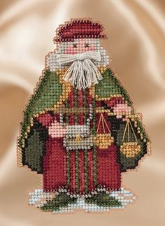 MILL HILL Counted Cross Stitch Kit A VISIT FROM ST NICK QUARTET BUY 1 or ALL 4
