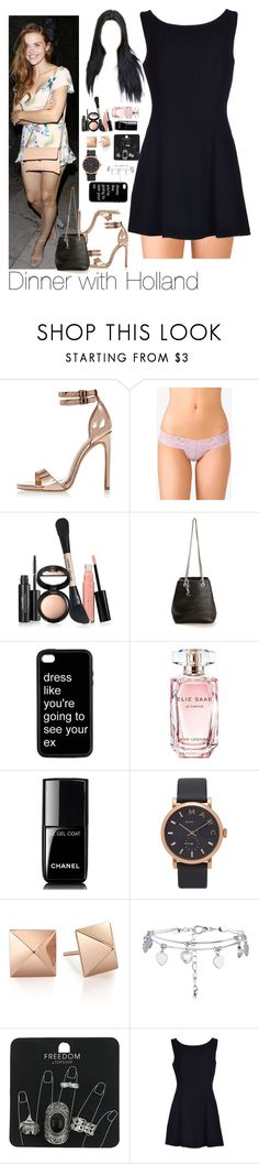 """Dinner with Holland"" by myllenna-malik ❤ liked on Polyvore featuring River Island, Forever 21, Laura Geller, Yves Saint Laurent, Elie Saab, Chanel, Marc Jacobs, New Look, Topshop and Christian Dior"