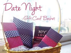 #DIY Gift Card Holders to use for your Date Night Gift Card Basket - Julie is Coco and Cocoa #KYTrySomethingNew ad