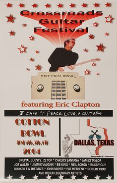 Pat Metheny, Concert Posters, Movie Posters, Buddy Guy, Cotton Bowl, John Mayer, Cover Pics, Eric Clapton, Special Guest