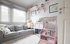 Ihana lastenhuone Älvsbytalon Suometar-kodissa.
