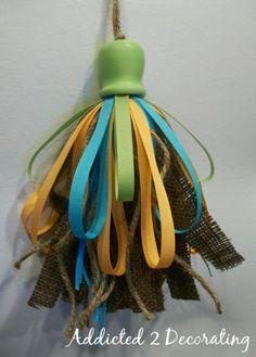 homemade tassel from blog: Addicted 2 Decorating