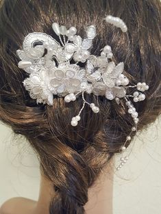 Wedding Hair Piece Bridal Hair Piece Wedding Comb by Weddingzilla