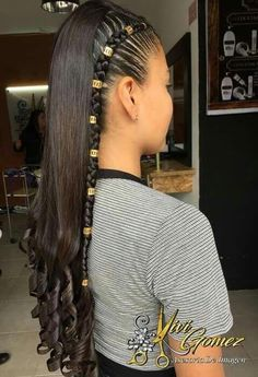 Trenzas pelo suelto Halloween Makeup pics of halloween makeup Baddie Hairstyles, Teen Hairstyles, Braided Hairstyles, Black Hairstyles, Braids With Curls, Braids For Long Hair, Back To School Hairstyles For Teens, Aesthetic Hair, Hair Color Balayage