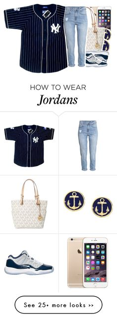 """•"" by abigail-petion on Polyvore featuring Brooks Brothers, Michael Kors and H&M"