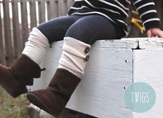 So cute for the fall!  Leg Warmers with Buttons - Toddler and Kids - Cream Legwarmers with Buttons