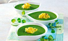 Detox-Suppe mit Spinat