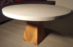 Concrete table round