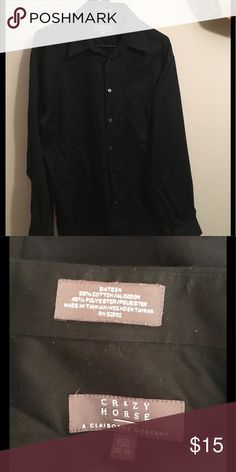 Crazy Horse Black Button Down Shirt Black button down. In good condition. Measurements: 15 1/2 34-35. Crazy Horse Shirts Dress Shirts