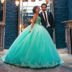 Stunning Mint Green Ball Gown Quinceanera Dresses Beaded Sweet 16 Dress To Party in Clothing, Shoes & Accessories,Women's Clothing,Dresses | eBay