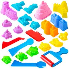Toyz Sand Molds - Mini Sandbox Toys, Sand Castle Building Kit Compatible with Any Molding Sand,,Christmas Day Products,Gifts Products