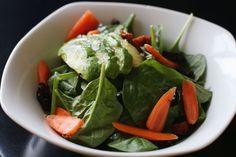 spinach + sun dried tomato salad