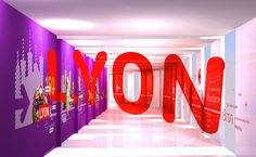 Lyon Airport anamorphic signage on Behance