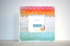 MY FAVORITE!! Uncharted Waters Waves Picture Frame by Mmim on Etsy, $17.00