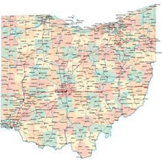 Printable Map of State Map of Ohio, State Map – Free Printable Maps & Atlas Printable Maps, Printables, Ohio Flag, Ufo Reports, Us State Map, Map Pictures, Free Maps, County Map, Ohio River