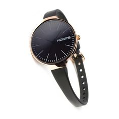 HOOPS Watches, Black & Rose Gold Glam Watch £36.00