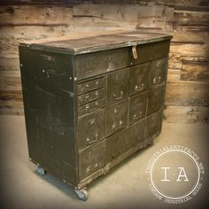 Leather Storage Trunk Fine Very Old Vintage Industrial Steamer Army St C.c. K