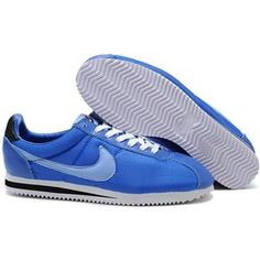 http://www.asneakers4u.com/ Men Nike Cortez Oxford Cloth Shoes Deep Blue White